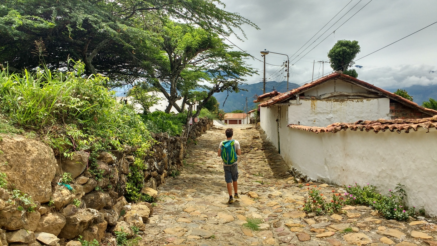 Christian walking the Streets of Guane